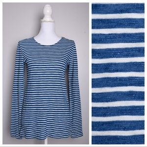 J. Crew Painter Tee Blue Striped Top E2417